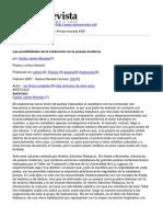 Nueva Revista - Las Posibilidades de La Traduccion en La Poesia Moderna
