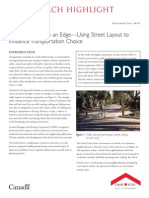Giving Pedestrians an Edge Using Street Layout to Influence Transportation Choice