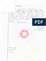 student feedback - flower