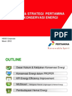 Kebijakan & Strategi Konservasi Energi Pertamina