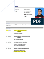 Ms. Tayyaba Ahmed - Finance-Admin