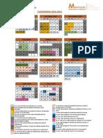 Calendario Master Profesorado UVigo 2015-2016