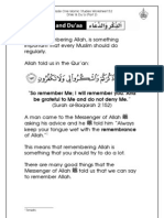Grade 1 Islamic Studies - Worksheet 5.2 - Dhikr and Du'a - Part 2