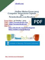 Computer Capsule for IBPS PO 2015 Mains Exam www.newstechcafe.com