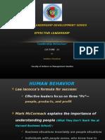 Effective Leadership Lec 11 - Leadership Behaviour