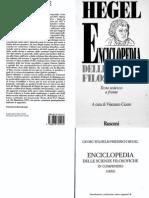 Hegel - Enciclopedia Delle Scienze Filosofiche in Compendio Con Annotazioni Testo Tedesco a Fronte a Cura Di v- Cicero