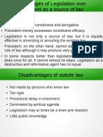 Legislation vs. Precedent