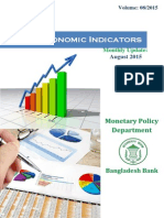 Bangladesh Major Economic Indicators August 2015