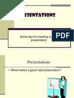 Presentation Planning