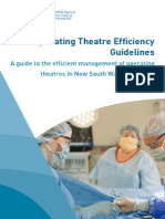 Operating Theatre Efficiency Guidelines