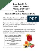 3rd Annual Sangria Contest