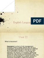 English Language IV, Unit 22