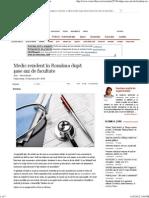 Medic Rezident În România După Şase Ani de Facultate
