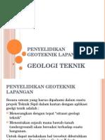Penyelidikan Geologi Teknik