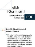 Direct Indirect Speech