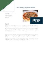 Receta Masa Pizza Sin Gluten