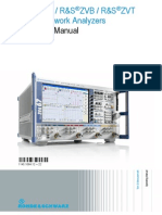 ZVA ZVB ZVT Vector Network Analyzers Operating Manual
