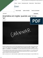 Gramática Em Inglês_ Quando Usar 'a' Ou 'an' - Englishtown