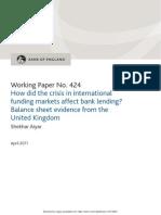 BOE Working Paper 424