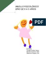 El Desarrollo Psicológico Del Niño de 0 a 3 Años