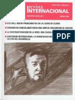 Revista Internacional-Nuestra Época, Edición Chilena Enero de 1987