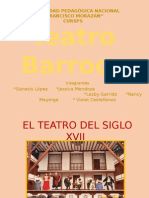 Teatro Barroco o  teatro del siglo XVII