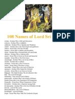 108 Names of Lord Sri Krishna