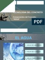 Agua para el concreto