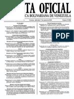 Sumario Gaceta Oficial 39.388