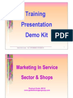 Marketing in Service Sector & Shops