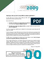 Le Marché de la publicité en France en 2009