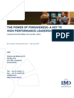 The Power of Forgiveness in Leadership