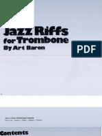 Art Baron Jazz Riffs for Trombone