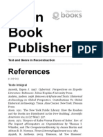 Text and Genre in Reconstruction - References - Open Book Publishers