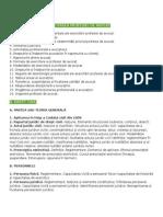Tematica pentru pregatirea examenului de admitere