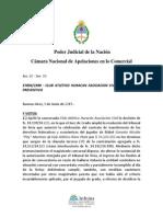 Club Atletico Huracan Asociacion Civil s. Concurso Preventivo