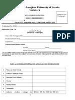 Application MSU Baroda