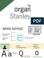 Tipografía Morgan Stanley