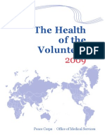 Peace Corps The Health of the Volunteer 2009 Annual Report of Volunteer Health  Hov 2009