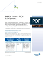 Energy Savings From Maintenance