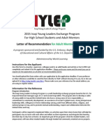 2015 IYLEP Adult Recommendation