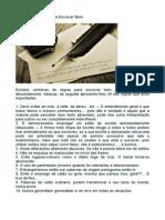 30 regras basicas para escrever bem