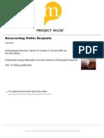 Ressurrecting Walter Benjamin