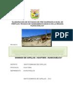 Elaboración de Estudios de Pre Inversión a Nivel de Perfiles Técnico de Saneamiento Básico en La Región Huancavelica
