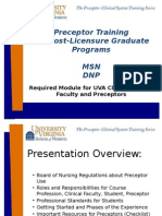 Preceptor Training - Post-licensure Graduate Programs (MSN DNP)