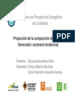Escnario tendencial generación eléctrica Colombia 2050