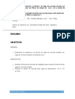 Paper Comparacion de Vigas de Concreto Armado - Estructuras y Cargas