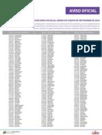 Personal docente, administrativo y obrero jubilado por el MPPE, octubre 2015