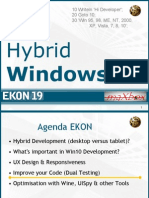 Windows 10 Hybrid Development