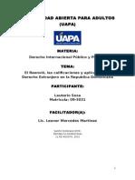 El Reenvió, Las Calificaciones y Aplicación Del Derecho Extranjero (Final)